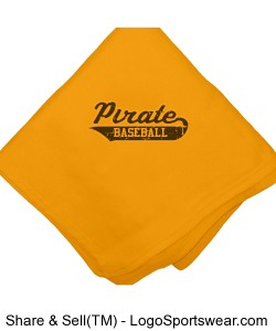 Pirate Baseball Blanket Design Zoom